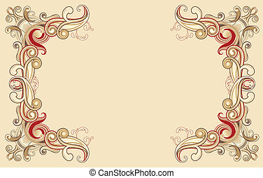 Floral frame -  illustration of style floral frame