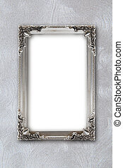 silver picture frame on background with effects