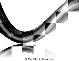 Dynamic wave - Dynamic square wave over white background...