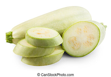 marrow - Fresh vegetable marrow isolated on white background...