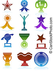 Award Icons Color - Set of award images in a variety of...