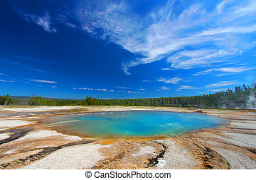 Turquoise Pool Yellowstone National Park - Turquoise Pool of...