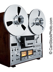 Analog Stereo Open Reel Tape Deck Recorder Vintage Isolated...