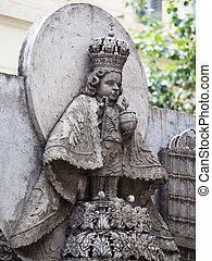 Statue in Basilica del Santo Nino. Cebu, Philippines. -...