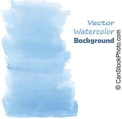 Blue watercolor paint