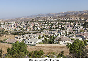 Southern California Suburb - New homes in Simi Valley, a...