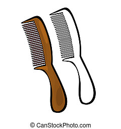 Comb - Vector illustration : Comb on a white background