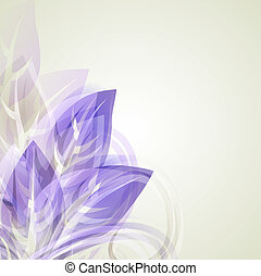 Abstract vintage purple background for design with leafs