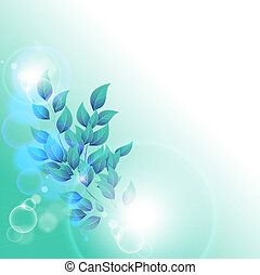 Winter leaves with space for text - Vector illustration of...