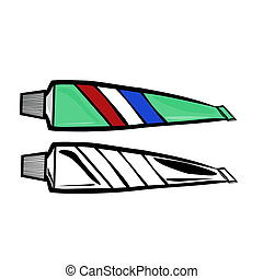 Toothpaste - Vector illustration : Toothpaste on a white...