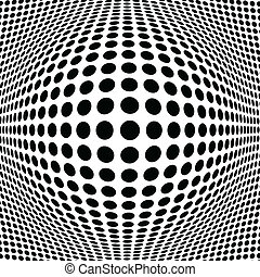 Abstract Black Halftone Background, vector illustration