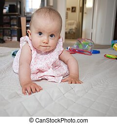 Baby crawling - Babies usually learn to crawl before they...