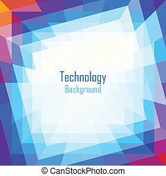 Abstract Coloful Technology Background Vector illustration