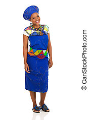 african woman wearing traditional clothing - portrait of...