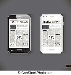 Modern smart phone with business news article