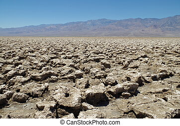 Death Valley National Park - View at the Death Valley...