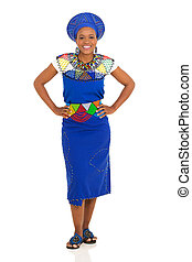 young african woman posing - beautiful young african woman...