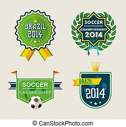 Brazil vintage label set