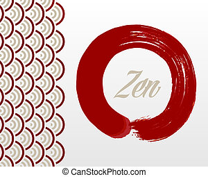 Red Zen circle background