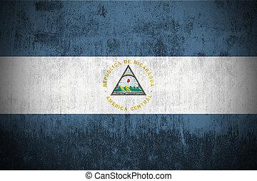 grunge flag of Nicaragua - weathered flag of Nicaragua,...