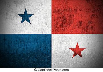 Grunge, bandera, Panamá