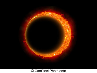A total eclipse of the moon - The eclipse of the moon,...