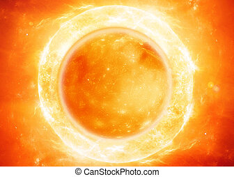 the sun - The sun in space.