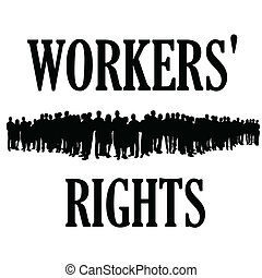 workers rights silhouette illustraton