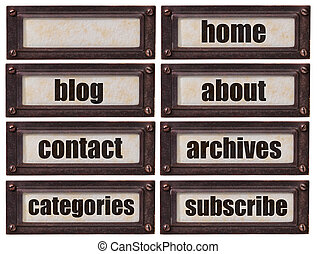 blog and websiite word set - set of words related to...
