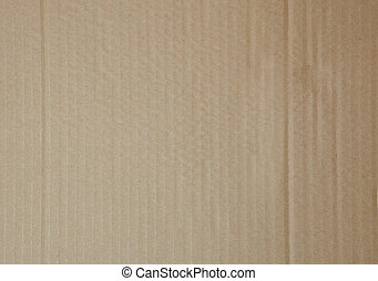 Flat cardboard background - Light brown flat cardboard...