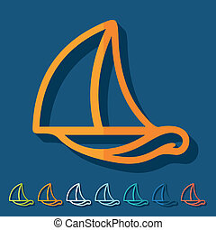 Flat design: sailboat