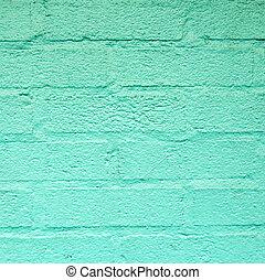 green harmonic brick wall in america
