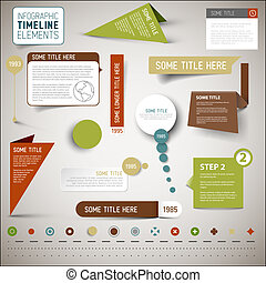 Infographic timeline elements template - Vector infographic...