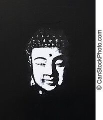 buddha painting black and white - black and white buddha...