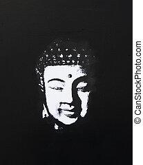 buddha painting black and white - black and white buddha...