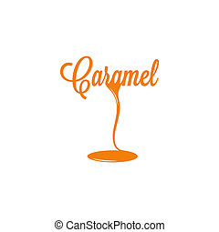 caramel isolated sign 10 eps design logo