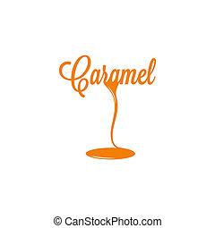 caramel isolated sign 10 eps design logo