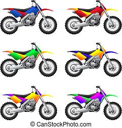 Sport motorcycles and bikes - Set of different sport...