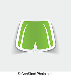 realistic design element: shorts