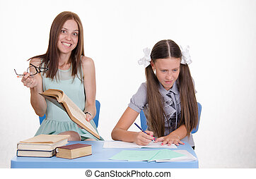 The teacher is angry from stupidity of student