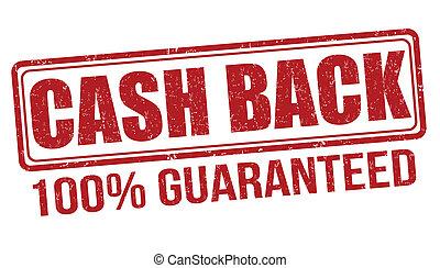 Cash back stamp - Cash back grunge rubber stamp on white...
