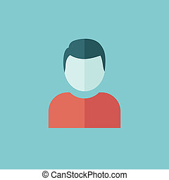 Avatar Flat Icon - Technology Flat Icon. Vector Graphics.