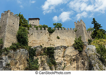Fortress on a cliff in San Marino