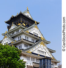 Osaka castle at day , japan landmark