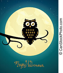 Vector Halloween Design - Vector Illustration of a Scary...