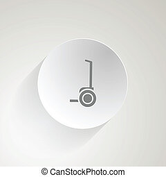 Vector icon for segway - Circle gray flat vector icon with...