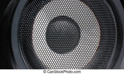 Loudspeaker. Acoustic system. Playing music.