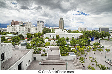 Panorama of Salt Lake City, Utah, USA