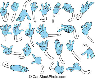 Hand movements - Illustration of hand gestures