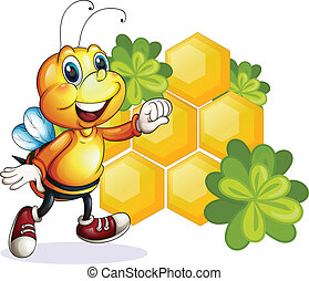 A smiling bee